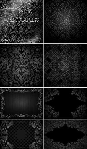 Черные узоры (набор фонов)