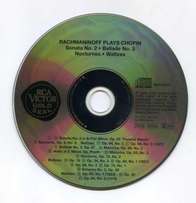 Rachmaninoff plays Chopin (Sonata No.2, Ballade No.3, Nocturnes, Waltzes) / 1994 BMG Classics