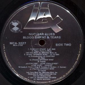 Blood Sweat & Tears  ‎–  Nuclear Blues (1980)