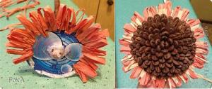 Цветы из мешковины, джута, шпагата 484b197b64037660d17f758c5aa3f74e