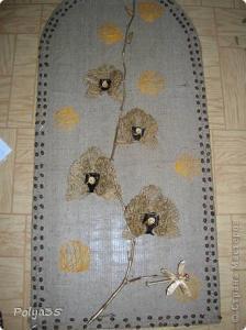 Цветы из мешковины, джута, шпагата 88e000f69bb49d2581851a7fa9484cd6