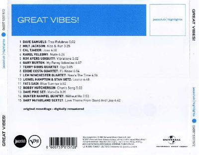 Great Vibes! / 2007 Universal Music Classics & Jazz