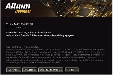 Altium Designer ( v.14.3.11 Build 33708, 2014 )