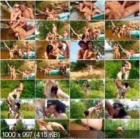 CollegeFuckParties - Julia Taylor, Eniko, Bella, Agnes - Summer Fuck Party Movie Part 4 [HD 720p]