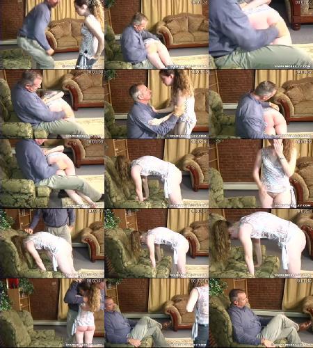 Mr. Daniels Gives Bailey An OTK Spanking