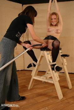 Mistress doing some bondage