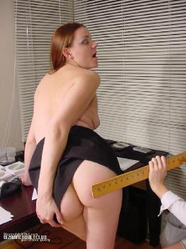 Teacher getting spanked