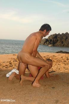 Fetish sex on the beach